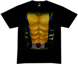 Image Closeup for Wolverine T-Shirt - Suit Costume