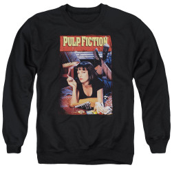Image for Pulp Fiction Crewneck - Classic Mia Poster