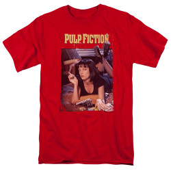 Image for Pulp Fiction T-Shirt - Classic Poster on Red