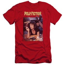 Image for Pulp Fiction Premium Canvas Premium Shirt - Classic Poster on Red