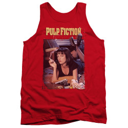 Image for Pulp Fiction Tank Top - Classic Poster on Red