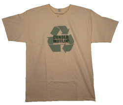 Image Closeup for The Office Dunder Mifflin Recycle T Shirt