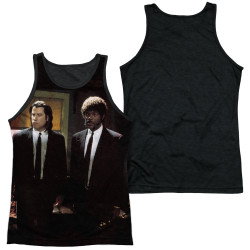 Image for Pulp Fiction Sublimated Tank Top - Vincent and Jules Black Back