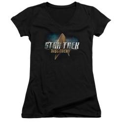 Star Trek Discovery Girls V Neck - Logo