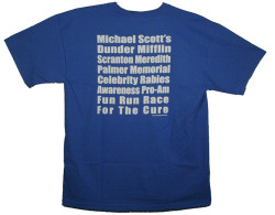 The Office Rabies Fun Run T-Shirt Image 2