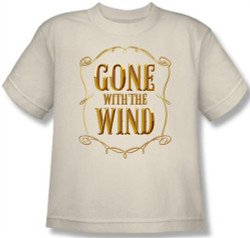 Image for Gone With the Wind Logo Youth T-Shirt