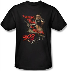 300 T-Shirt - Tonight We Dine in Hell