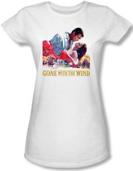 Image for Gone With the Wind On Fire Girls Shirt