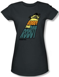 Image for Forbidden Planet Robby the Robot Girls Shirt