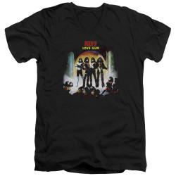 Image for Kiss V Neck T-Shirt - Lover Gun Cover