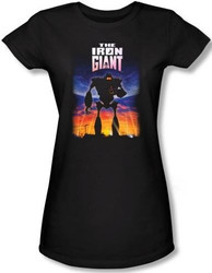 Image for The Iron Giant Poster Girls Shirt