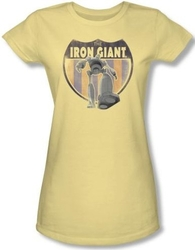 Image for The Iron Giant Patch Girls Shirt