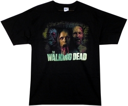 Image Closeup for The Walking Dead T-Shirt - Tri Color Distressed