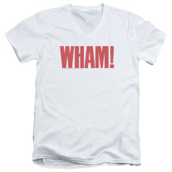 Image for Wham! V Neck T-Shirt - Logo