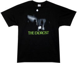 Image Closeup for The Exorcist Streetlight T-Shirt