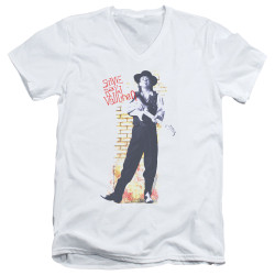 Image for Stevie Ray Vaughan V Neck T-Shirt - Standing Tall