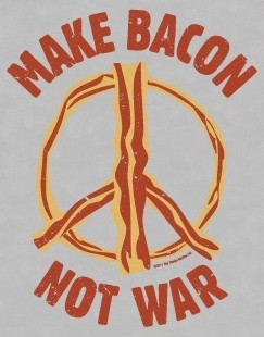Image for Bacon T-Shirt - Make Bacon Not War