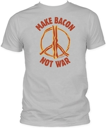 Image Closeup for Bacon T-Shirt - Make Bacon Not War