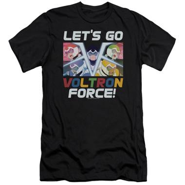 Image for Voltron: Legendary Defender Premium Canvas Premium Shirt - Let's Go