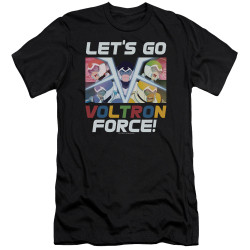 Image for Voltron: Legendary Defender Premium Canvas Premium Shirt - Let's Go
