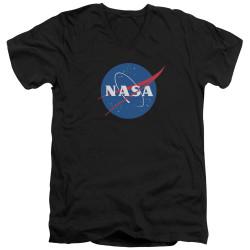 Image for NASA V Neck T-Shirt - Meatball Logo