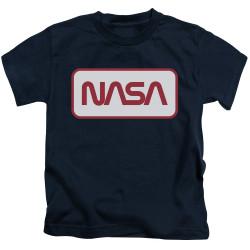 Image for NASA Kids T-Shirt - Rectangular Logo