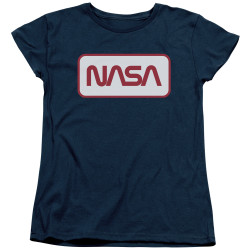 Image for NASA Womans T-Shirt - Rectangular Logo