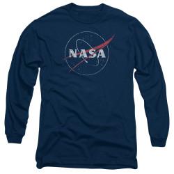 Image for NASA Long Sleeve Shirt - Distressed Logo