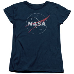 Image for NASA Womans T-Shirt - Distressed Logo