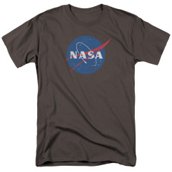 Image for NASA T-Shirt - Meatball Logo Distressed