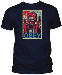 Image Closeup for Obey Robot T-Shirt
