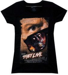 Image for They Live Girls T-Shirt - Poster