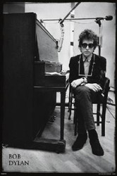 Image for Bob Dylan Poster - Piano