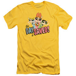 Image for The Powerpuff Girls Premium Canvas Premium Shirt - The Day is Saved