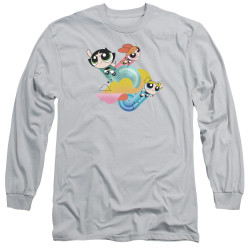 Image for The Powerpuff Girls Long Sleeve Shirt - Spiral Streaks