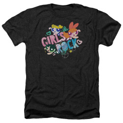 Image for The Powerpuff Girls Heather T-Shirt - Girls Rock