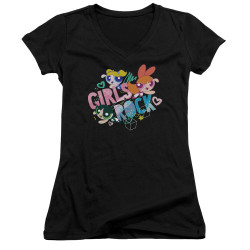 Image for The Powerpuff Girls Girls V Neck - Girls Rock