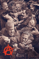 Image for Sons of Anarchy Poster - Fighting