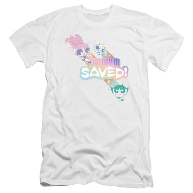 Image for The Powerpuff Girls Premium Canvas Premium Shirt - The Day is Saved Again
