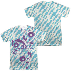 Image for The Powerpuff Girls Sublimated T-Shirt - Purple Pattern 100% Polyester