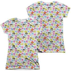 Image for The Powerpuff Girls Girls Sublimated T-Shirt - Geo Pattern
