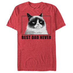 Image for Grumpy Cat T-Shirt - Best Dad Never