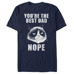 Image for Grumpy Cat Premium T-Shirt - Fathers Nope