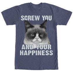 Image for Grumpy Cat Premium T-Shirt - No Happiness