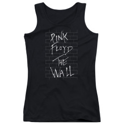 Image for Roger Waters Girls Tank Top - The Wall on Black