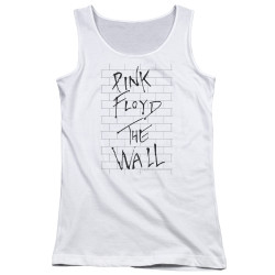 Image for Roger Waters Girls Tank Top - the Wall on White