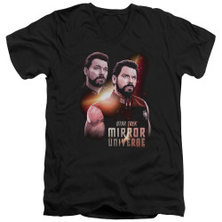 Image for Star Trek the Next Generation Mirror Universe V Neck T-Shirt - Mirror Riker