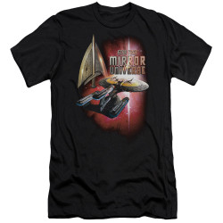 Image for Star Trek the Next Generation Mirror Universe Premium Canvas Premium Shirt - Mirror Enterprise