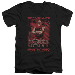Image for Star Trek the Next Generation Mirror Universe V Neck T-Shirt - Terrans Unite
