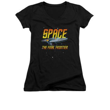 Image for Star Trek Girls V Neck - Space the Final Frontier